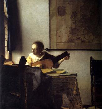 Johannes Vermeer : Woman with a Lute